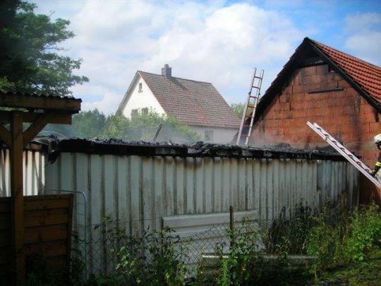 Brandeinsatz Schuppen - Wildemannstrasse