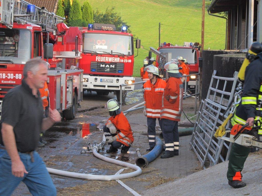 Brandeinsatz in Stauffenburg